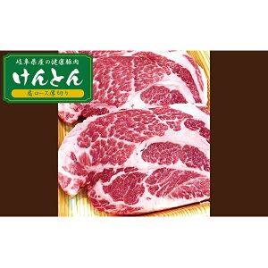 【ふるさと納税】【飛騨・美濃けんとん】けんとん豚肩ローストンテキ・とんかつ用計1kg 【お肉・豚肉】