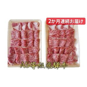 【ふるさと納税】【2か月定期便】A5等級飛騨牛焼き肉用1kg ロース又は肩ロース肉 【定期便・ロース・お肉・牛肉・焼肉・バーベキュー】