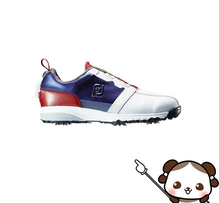 【ふるさと納税】フットジョイ ゴルフシューズ メンズ ULTRA FIT Boa(ウルトラフィットボア)【ホワイト/ネイビー/レッド】