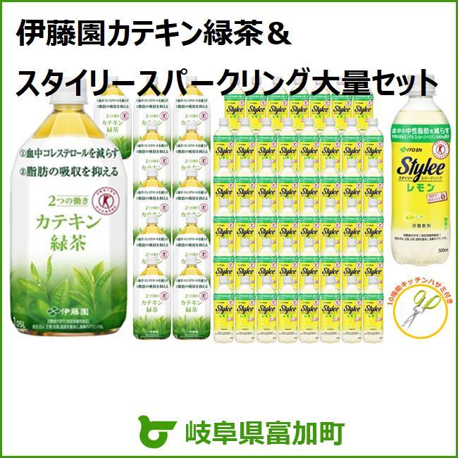 【ふるさと納税】伊藤園カテキン緑茶&スタイリースパークリング大量セット