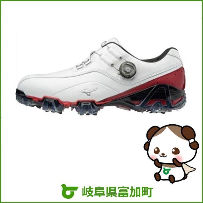 【ふるさと納税】ジェネム008ボア EEE(ゴルフ)[メンズ]ホワイト・レッド