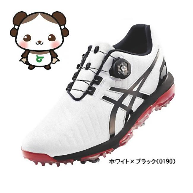 【ふるさと納税】アシックス ゴルフシューズ メンズ ゲルエース プロ3Boa ホワイト・ブラック