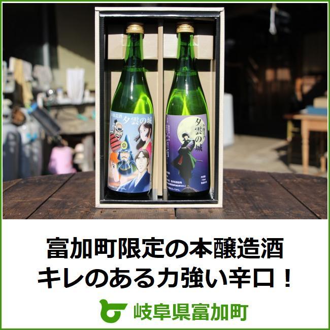 【ふるさと納税】本醸造酒「夕雲の城」720ml×2本セット