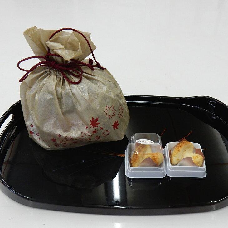 【ふるさと納税】焼き菓子 銘菓・かぶちまつたけをシックな巾着袋に入れてお届け。全国菓子大博覧会で名誉総裁賞受賞!