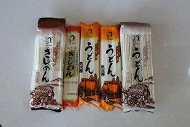 【ふるさと納税】 麺 うどん きしめん 堪能 セット 5袋 まっすぐ麺 曲がり麺 送料無料