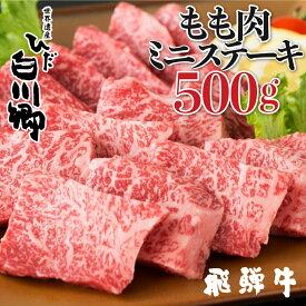 【ふるさと納税】飛騨牛 ミニステーキ もも肉 500g JAひだ ミニステーキ お歳暮 ギフト[S099]