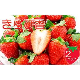 【ふるさと納税】キラッと輝くいちご『きらぴ香』 2パック【2021年2月以降お届け】 【果物類・イチゴ】 お届け:2021年2月上旬〜3月下旬