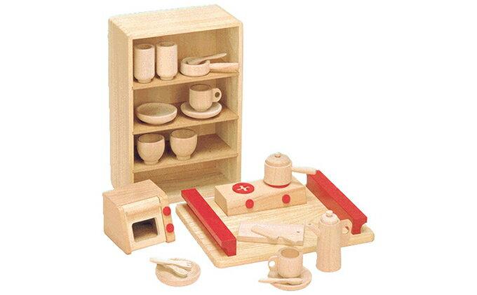 【ふるさと納税】木製知育玩具 抗菌ままごとあそびトレイセット 8013 【玩具・木のおもちゃ】