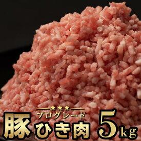 【ふるさと納税】大ボリューム!豚ひき肉5kgセット