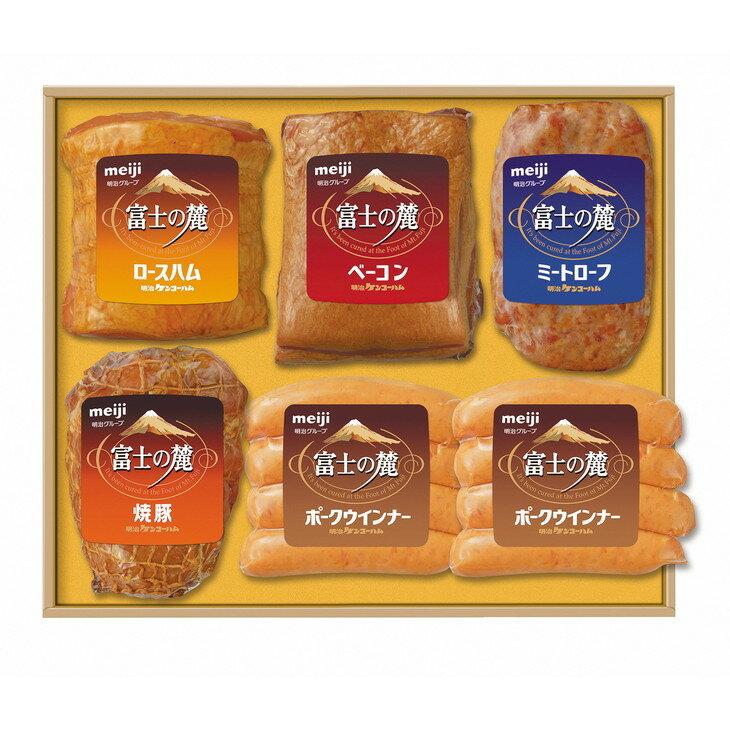 【ふるさと納税】期間限定「富士の麓」ハム・ベーコン類6点詰合せギフトセット(MKH-50)