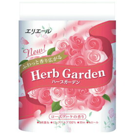 【ふるさと納税】エリエールトイレットティシュー ハーブガーデン ローズブーケの香り 3枚重ね 48個 パルプ100%