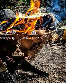 【ふるさと納税】焚き火台 コンパクト ANCAM(アナキャン) 組立式焚き火台「FIRE WHIRL」Mサイズ 静岡県富士宮市