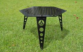 【ふるさと納税】ANCAM(アナキャン)オリジナルメタルテーブル メタヘキテ 脚長 静岡県富士宮市