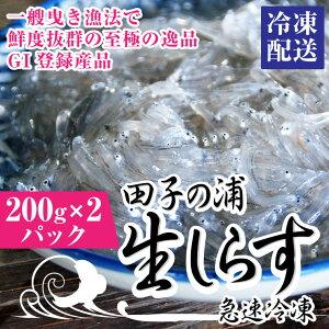 【ふるさと納税】1551一艘曳き漁法「田子の浦」生しらす 冷凍200g×2個セット