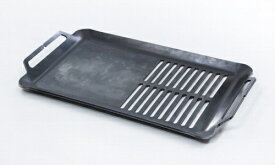 【ふるさと納税】204_バーベキューコンロ用 スリット入鉄板(大・黒皮4.5mm)