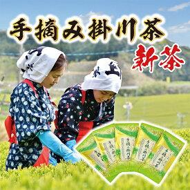 【ふるさと納税】【新茶】希少な手摘み掛川茶5袋セット