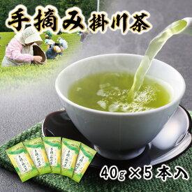 【ふるさと納税】【新茶】希少な手摘み掛川茶5袋セット〔お茶・緑茶・煎茶・茶葉・静岡・掛川茶〕