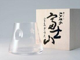 【ふるさと納税】富士山宝永グラス シングル(クリア)◆