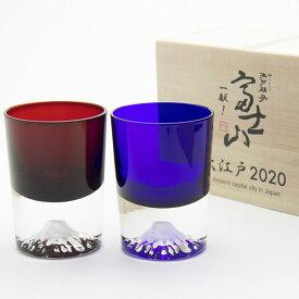 【ふるさと納税】富士冷酒杯 ペア【グラス】
