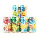 キリン氷結飲み比べセット(レモン・グレープフルーツ・もも・シャルドネ・パイナップル・ウメ)350ml×24本(6種×4本)