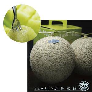 【ふるさと納税】クラウンメロン(山級)2玉 ギフト箱入り 【果物類・メロン青肉・ギフト箱】