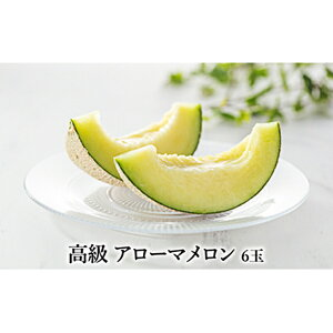 【ふるさと納税】高級温室 御前崎産 アローマメロン6玉(化粧箱入り) 【果物類・メロン青肉】