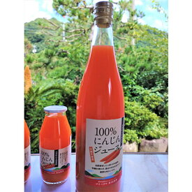 【ふるさと納税】100%にんじんジュース(720ml×2本入り) 【果汁飲料・野菜飲料・にんじんジュース・人参・ニンジン】