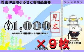 【ふるさと納税】南伊豆町ふるさと寄附感謝券9枚