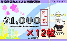 【ふるさと納税】南伊豆町ふるさと寄附感謝券12枚