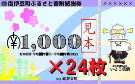 【ふるさと納税】南伊豆町ふるさと寄附感謝券24枚