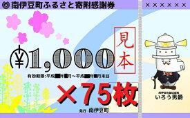 【ふるさと納税】南伊豆町ふるさと寄附感謝券75枚