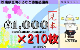 【ふるさと納税】[Za-19]南伊豆町ふるさと寄附感謝券210枚