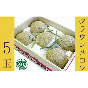 【ふるさと納税】クラウンメロン白5玉入 【果物類・メロン青肉・5玉】