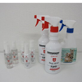 【ふるさと納税】スカットウイルス除菌剤500ml、ヴイセブン犬猫用、アルコールスプレー50mlジェル50ml D【1214468】