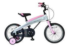 【ふるさと納税】メルセデス・ベンツ16型子供用自転車(MB-16)カラー:ライトピンク