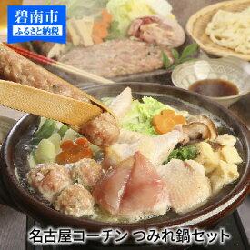 【ふるさと納税】元祖白だし濃厚スープ 名古屋コーチンつみれ鍋セット(5〜6人前) H001-022