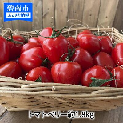 【ふるさと納税】甘さ抜群!!トマト嫌いも食べられるトマトベリー約1.8kg H004-016