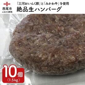 【ふるさと納税】T013.「三河おいんく豚」と「みかわ牛」を使用した絶品生ハンバーグ