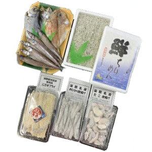 【ふるさと納税】G0213 蒲郡海鮮市場 名産唐揚げセット+地魚干物セット+ちりめんじゃこ