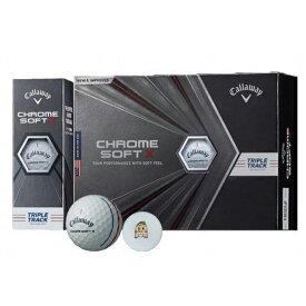 【ふるさと納税】いなッピーオンネーム ゴルフボール キャロウェイCHROME SOFT X トリプルトラック 2ダース
