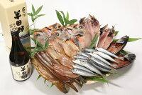 【ふるさと納税】魚太郎の人気干物ベスト7セット(日本酒半田郷付き)