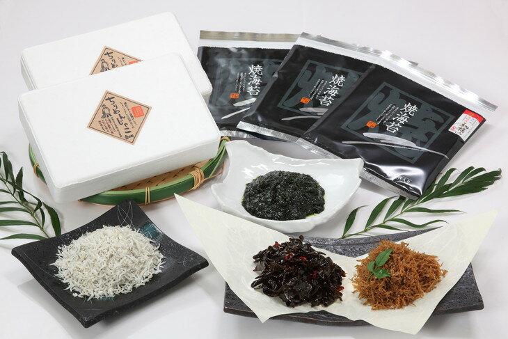 【ふるさと納税】 魚太郎 知多のしらす、高級板海苔、人気の佃煮セット