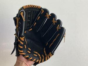 SAEKI野球グローブ【軟式・品番115】【ブラック】【Rオレンジ】