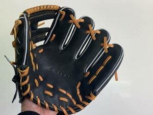SAEKI野球グローブ【軟式・品番140】【ブラック】【Rオレンジ】