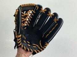 SAEKI野球グローブ【軟式・品番170】【ブラック】【Rオレンジ】ンジ】