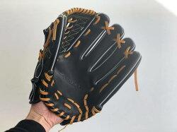 SAEKI野球グローブ【硬式・品番110】【ブラック】【Rオレンジ】