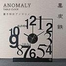 【ふるさと納税】GRAVIRoNAnomaly置き時計黒皮鉄