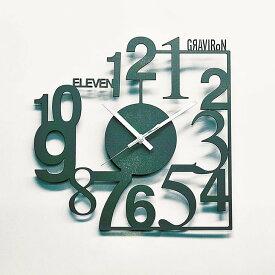 【ふるさと納税】GRAVIRoN Anomaly 黒皮鉄(掛け時計) (幸田町寄付管理番号2004)
