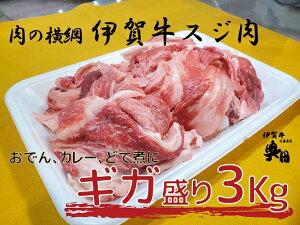 【ふるさと納税】奥田ブランド伊賀牛ギガ盛り牛スジ肉 3kg