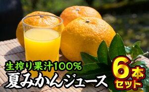 【ふるさと納税】KP-3 夏みかん100%ジュース(甘夏)1000ml × 6本セット